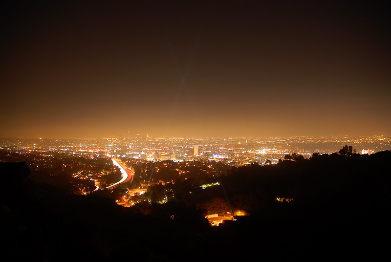 Snapshot of the light pollution over Los Angeles, California.