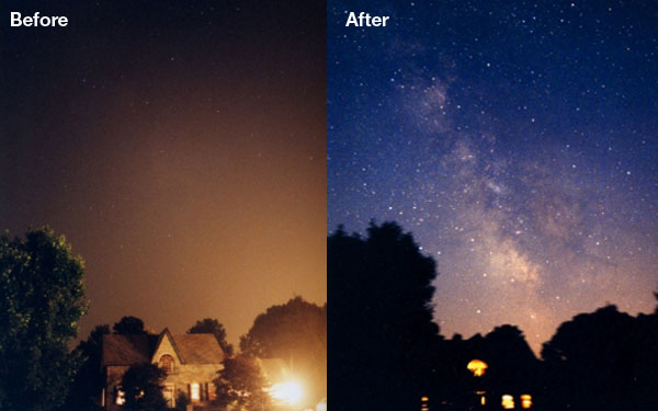Before and during a Northeast blackout in 2003.