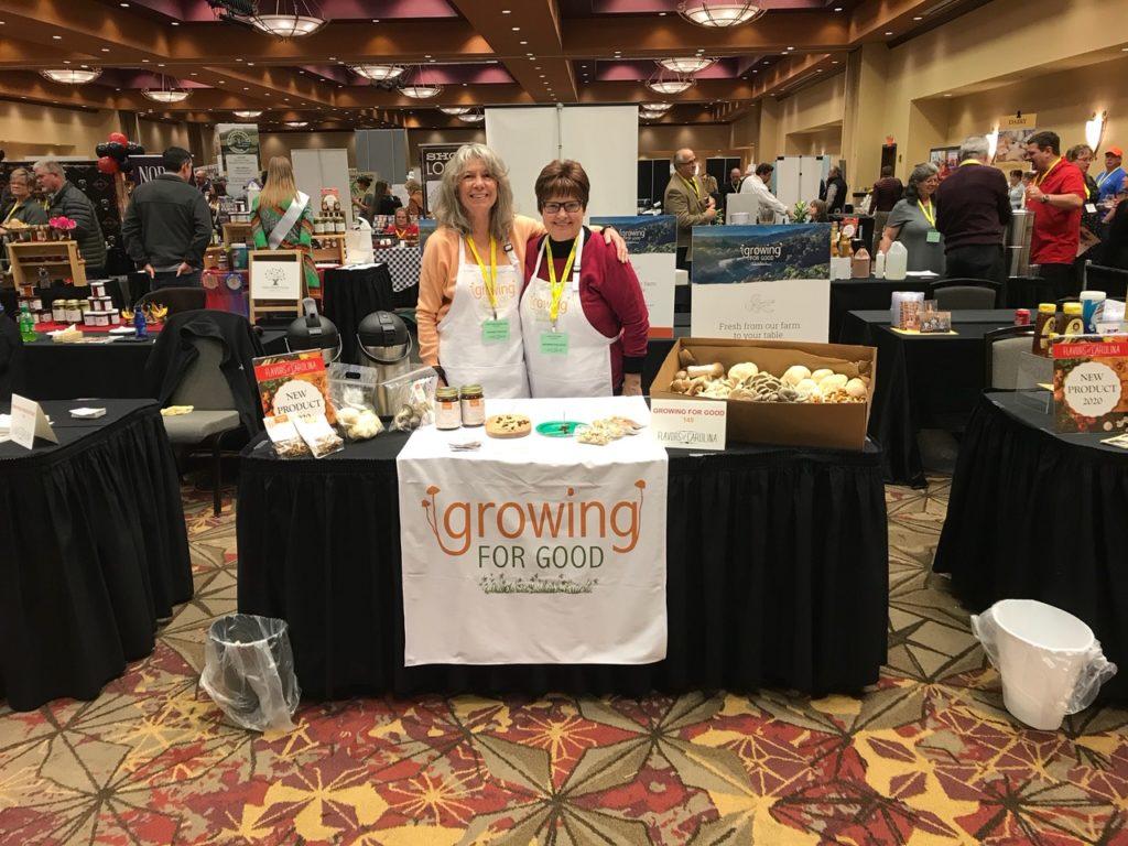 Growing For Good founders Chris Burns-Fazzi (left) and Jan Shaw (right). Growing for Good and GoodBulb.