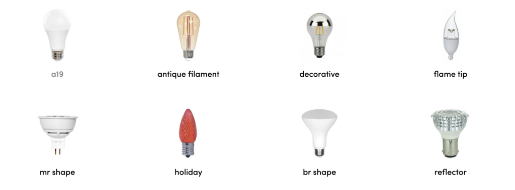 A variety of LED options from GoodBulb